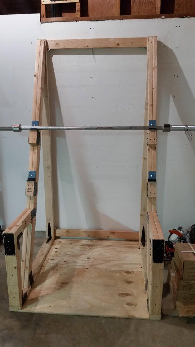 Squat rack ideas squat squat stands and gym for Homemade squat rack