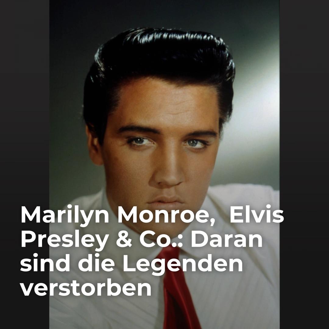 Marilyn Monroe Elvis Presley Co Daran Sind Die Legenden Verstorben Video Video In 2020 Elvis Presley Marilyn Monroe Legenden