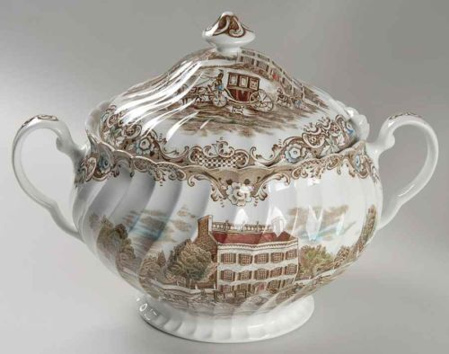 Johnson Brothers Heritage Hall Brown Multicolor Tureen 278019 | eBay ...