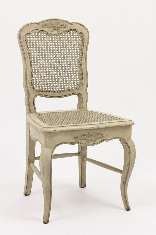 Rustic French Dining Chairs french country cane dining chairs (antique white) | san mateo