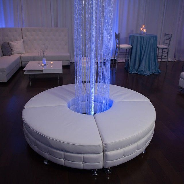 LED Crystal Columns, Lounge Furniture, Pipe And Drape And