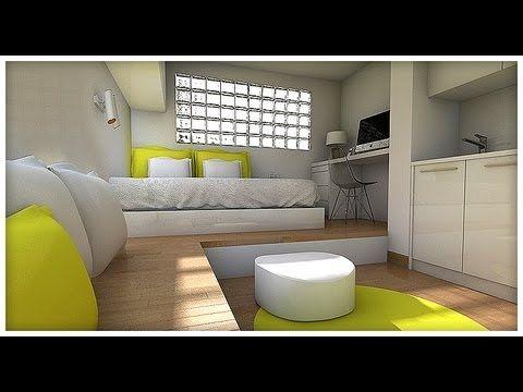 Dise o interior minipiso 15 m2 youtube minipisos for Piso pequeno diseno
