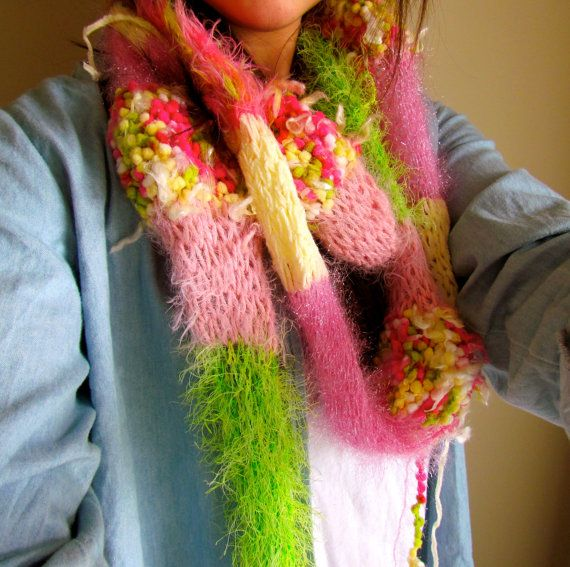 Young Wild & Neon Scarf by POSHandPEARLS on Etsy