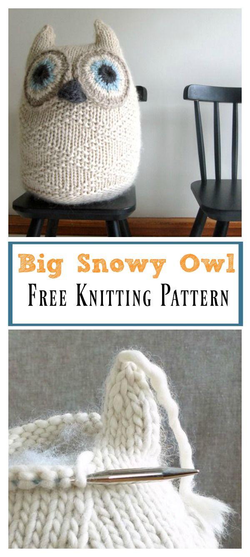 Big Snowy Owl Free Knitting Pattern | Knitting | Pinterest | Tejido ...