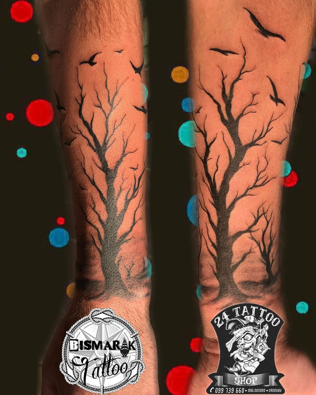 Gracias por confiar en 24 🙏trabajo de MARCOS CARBALLO #tattooparejas 099739660 🤘 🙏 #24tattooshop #maldonado...