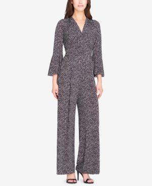 99b66f94c50d Tahari Asl Knit Bell-Sleeve Jumpsuit - Black 18