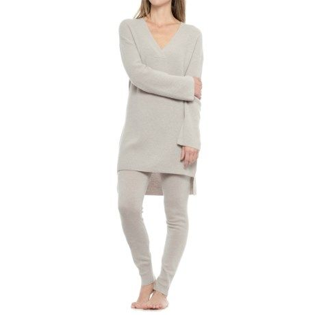 Cynthia Rowley Cashmere Tunic Sweater and Joggers Lounge Set (For Women) in  Agate Heather 19f8366c2