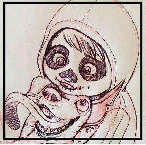 Miguel Rivera Y Dante De Coco Pixar Dibujos Pinturas Disney Dibujos Bonitos