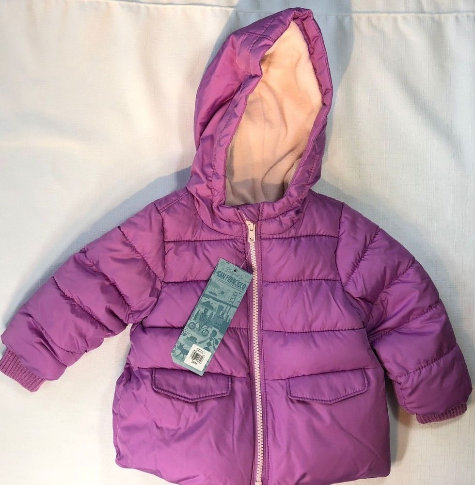 bf7f612f0d89 NWT Old Navy Girls 12-18 or 18-24 Months Purple Frost-Free Hooded ...