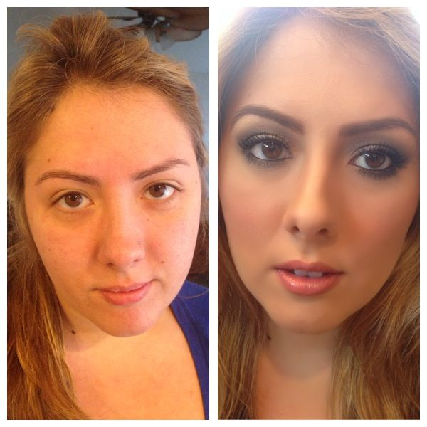 Before & After On Sara F! SKIN: Temptu Airbrush Foundation