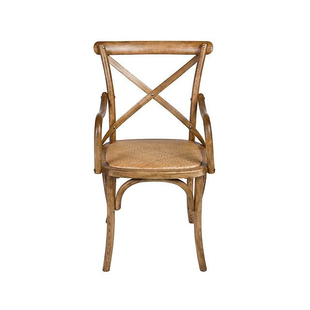 Silla de madera de roble chino, con asiento tapizado en ratán ...