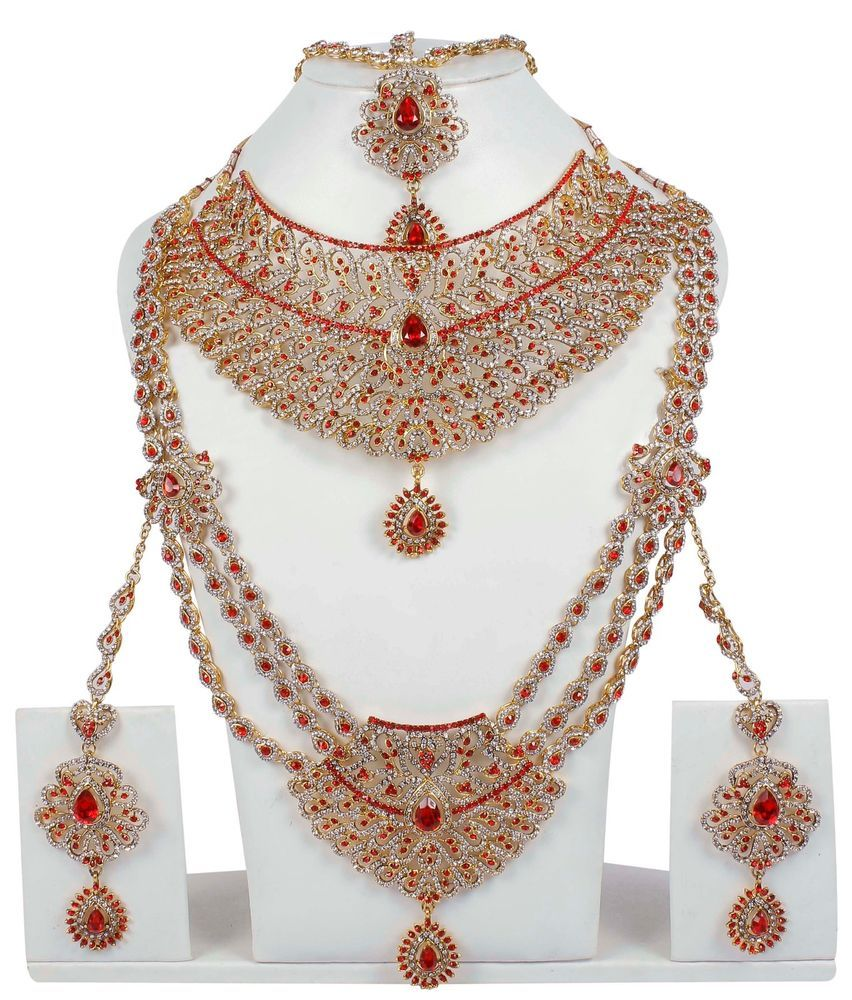 Muchmore Bollywood Fashion Glamorous Crystal Polki Indian Necklace SetTraditional Jewellery QPCr1iYq