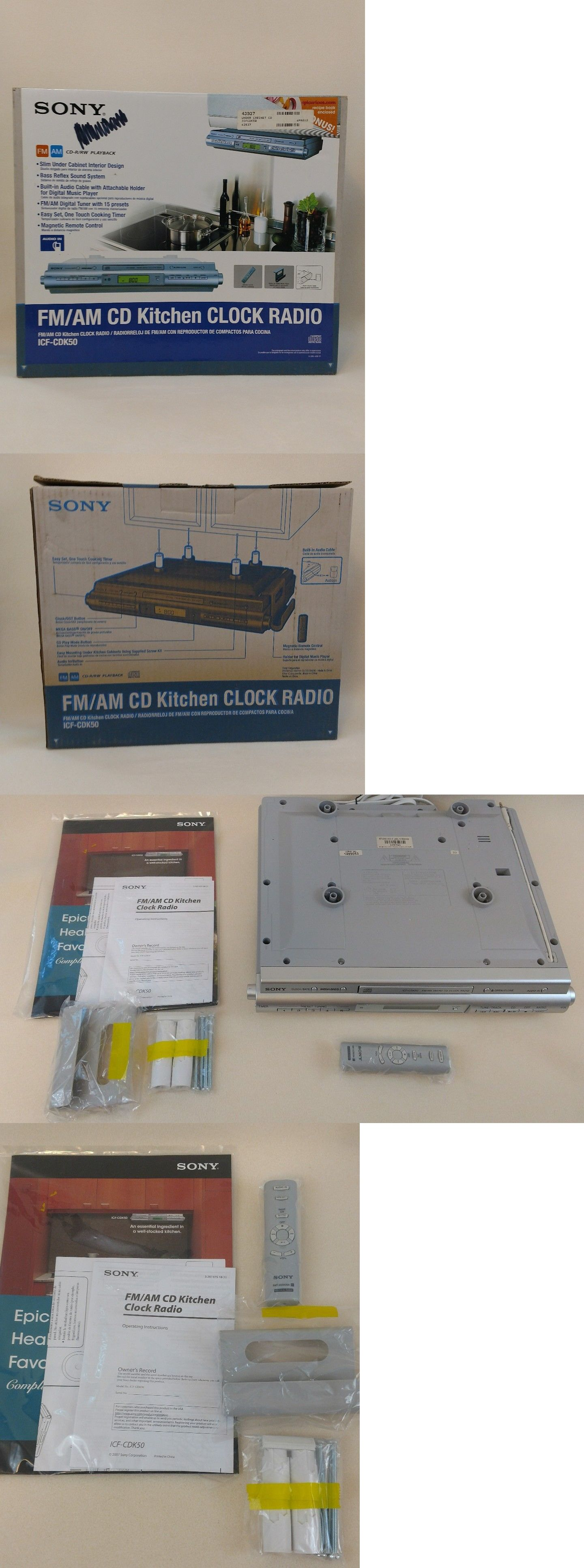 Digital Clocks And Clock Radios: New Open Box Sony Fm Am Cd Under Cabinet  Kitchen