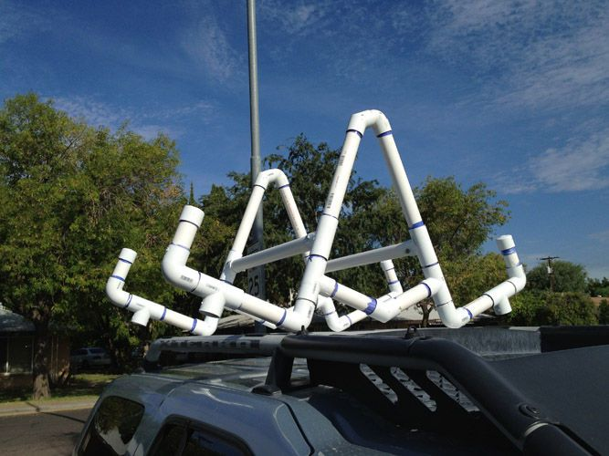 Pvc Kayak Roof Rack Carrier Kayak Roof Rack And Crafty