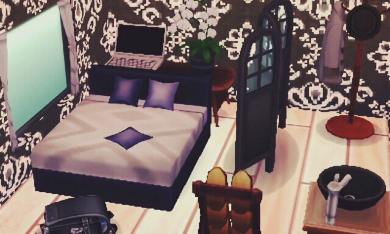 Roscoe S Black White Bedroom With Images Animal Crossing
