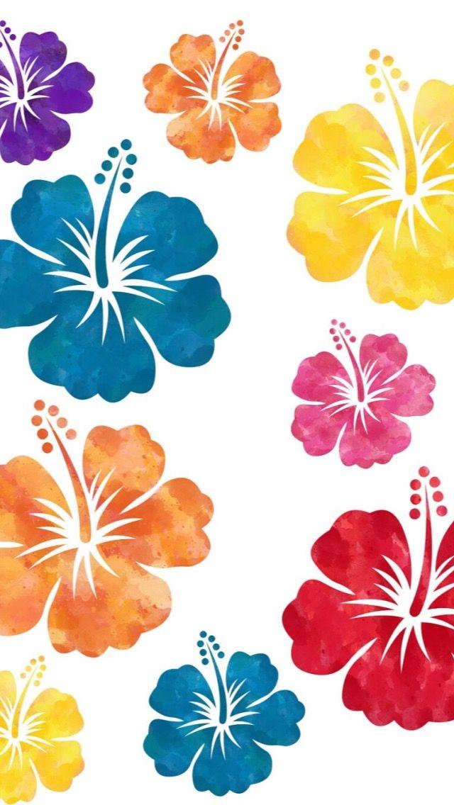 Splash Flower Art Digital Clip Art Hibiscus
