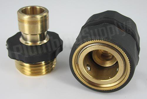 Excelfu 10 Pieces Garden Hose Quick Connector 3 4 Inch Brass Male