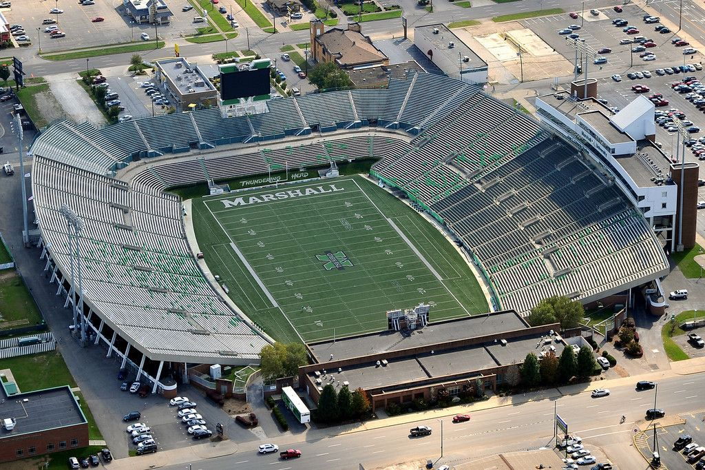 AerialsSeptember 2011 Marshall thundering herd football
