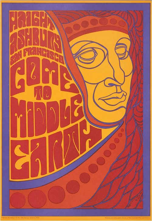 Haight Ashbury San Francisco Come to Middle Earth 1969