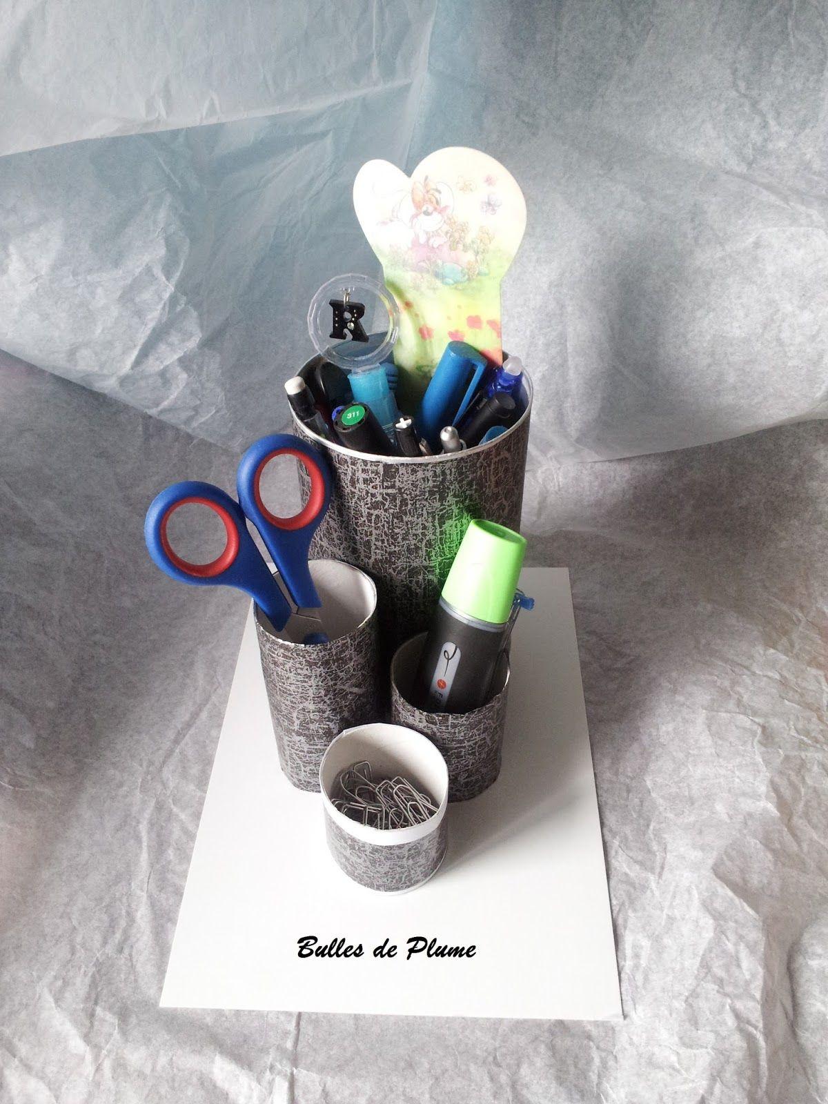 Bulles de Plume: DIY Porte crayons et accessoires de bureau                                                                                                                                                      Plus