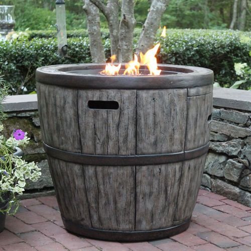 Wine Barrel 27 Fire Table Saw This At Costco Today We Really Want For Our New Home Patio