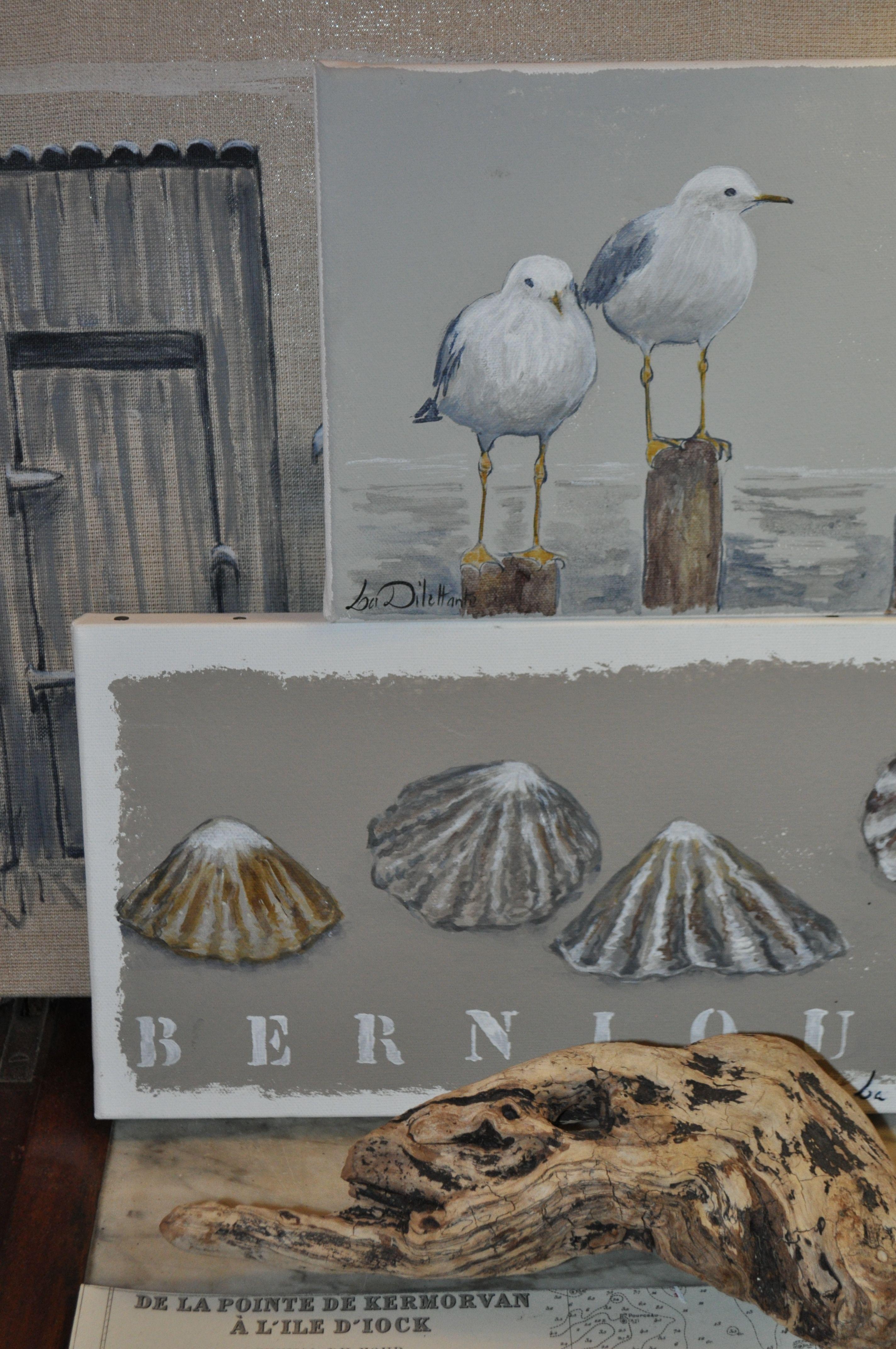 Bord De Mer Art En Bois Flotte Peinture Mer Comment Peindre