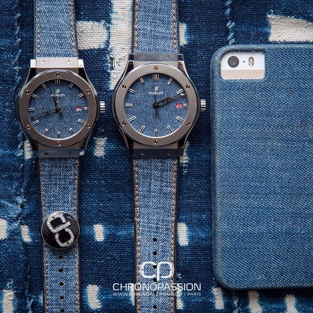 All jean, everything! Hublot Classic Fusion special edition only for Chronopassion boutique with a jeans dial and strap, available in 2 sizes.