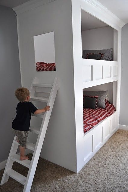 Enclosed bunk bed by jules3477 | Boys shared bedroom, Bunk ...