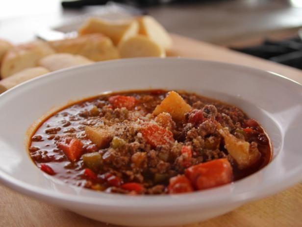 Hamburger Soup Recipe Food Network Recipes Hamburger Soup Delicious Soup