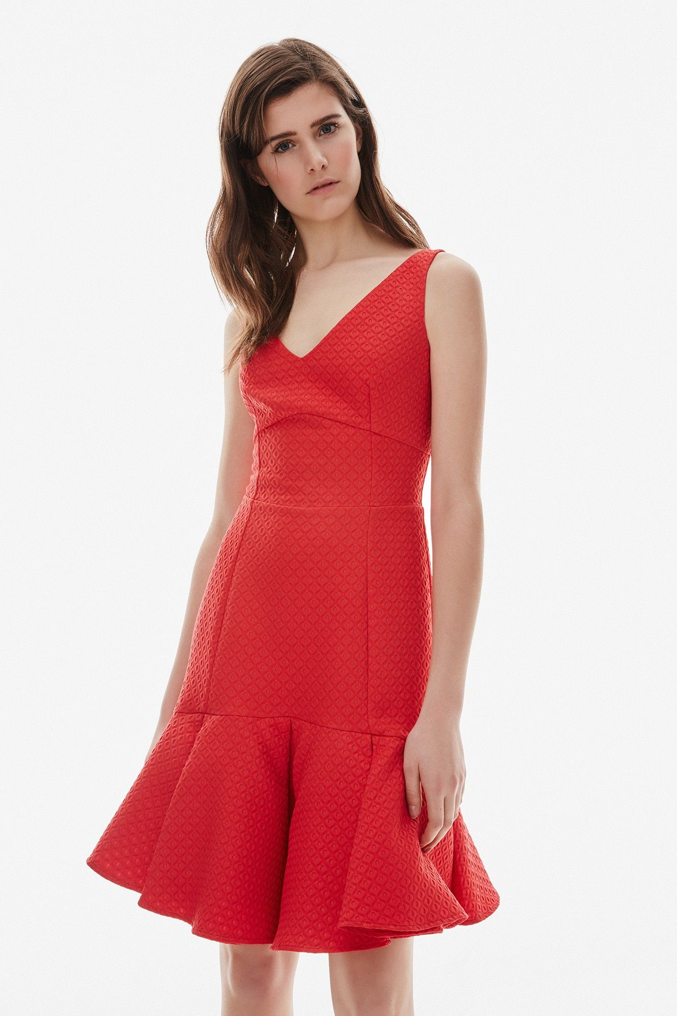 932a804b9c Vestido rojo entallado