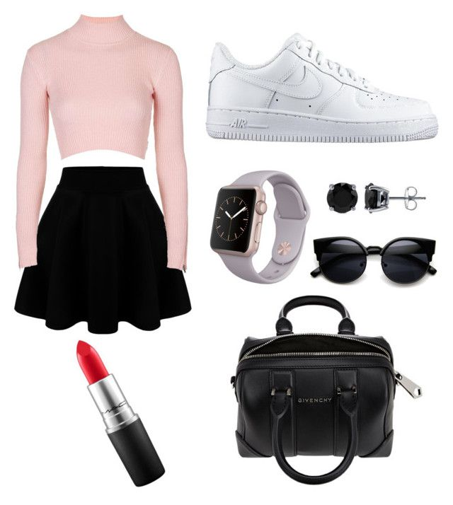 """Untitled #3"" by salazarjamjam on Polyvore featuring Topshop, NIKE, BERRICLE, Givenchy, MAC Cosmetics, women's clothing, women, female, woman and misses"
