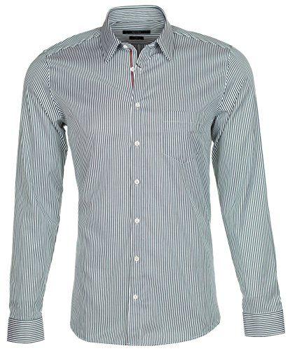 19f673355 GUCCI Gucci Men'S Green Classic Stripe Cotton Web Stripe Slim Button Down  Dress Shirt. #gucci #cloth #