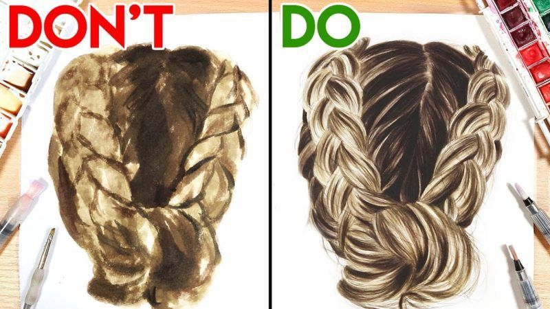Drawing Hairstyles For Your Characters Watercolour Hair Hair