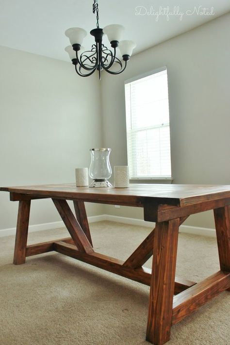 Awesome DIY Farmhouse Table Inspired By Restoration Hardware. Created With  Easy To Follow Ana
