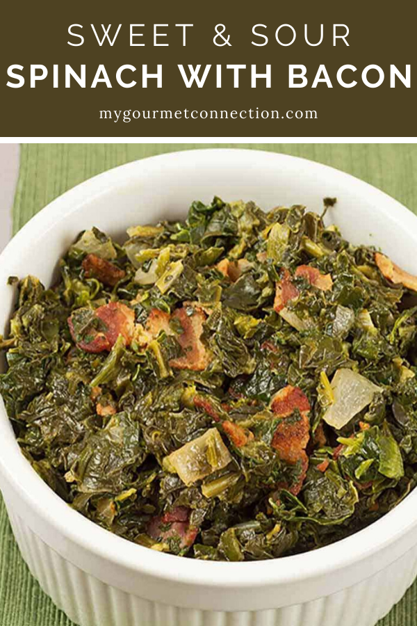 Sweet and Sour Spinach with Bacon This recipe adds a sweet and sour element and a touch of cream to