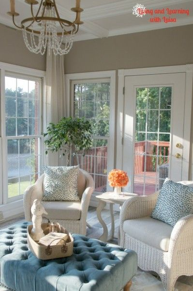 sunroom paint colorsSherwin Williams Perfect Greige Sunroom Paint  SW Colors