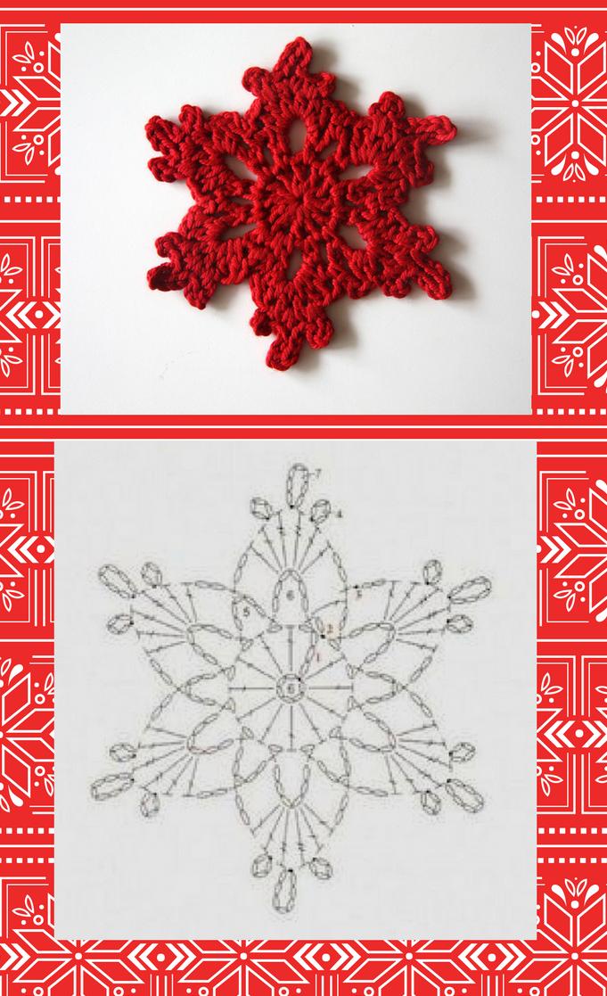 Cómo tejer un copo de nieve colgante paso a paso | Navidad ...