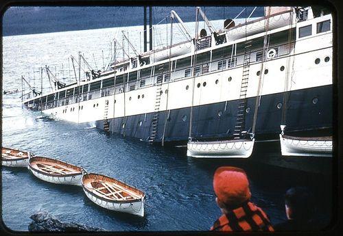 That Sinking Feeling, the Princess Kathleen, 1952 Lena Point near Juneau, Alaska by born1945
