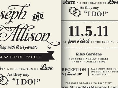 I Do Typography Wedding Invitationsmodern