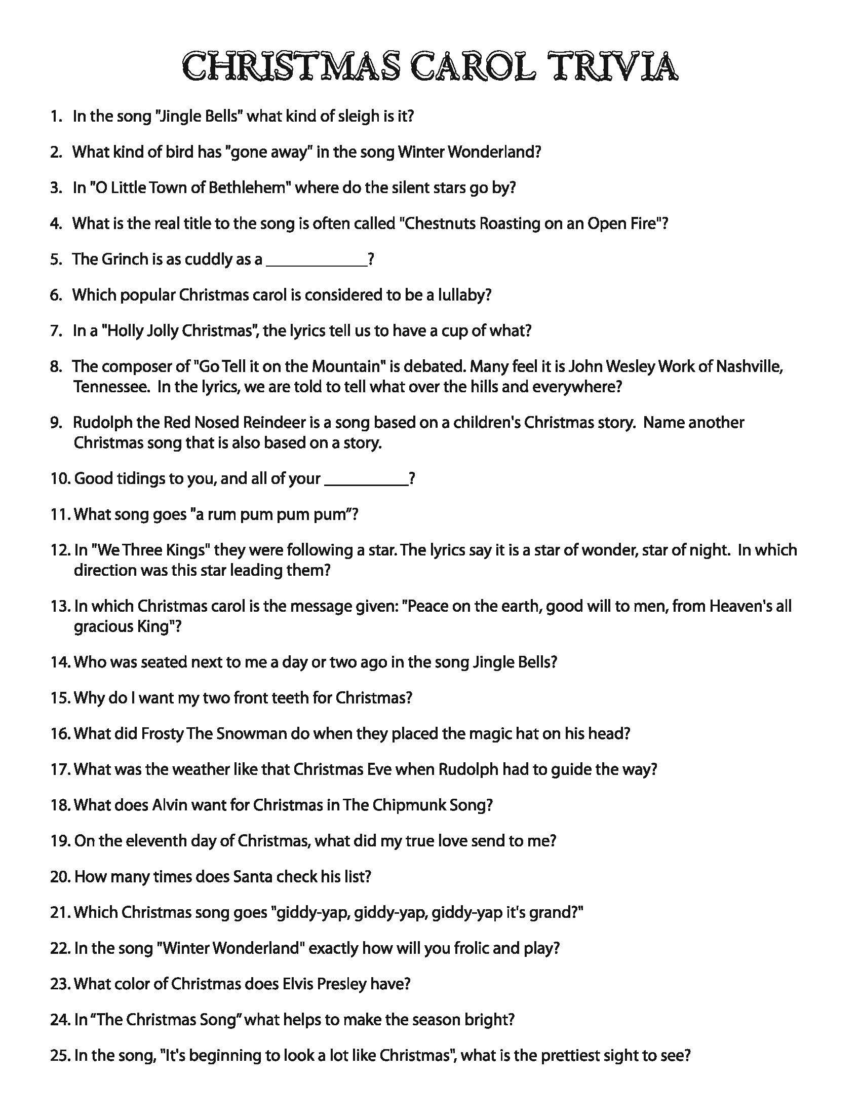 christmas_carol_trivia.jpg 1,700×2,200 pixels | Christmas fun ...