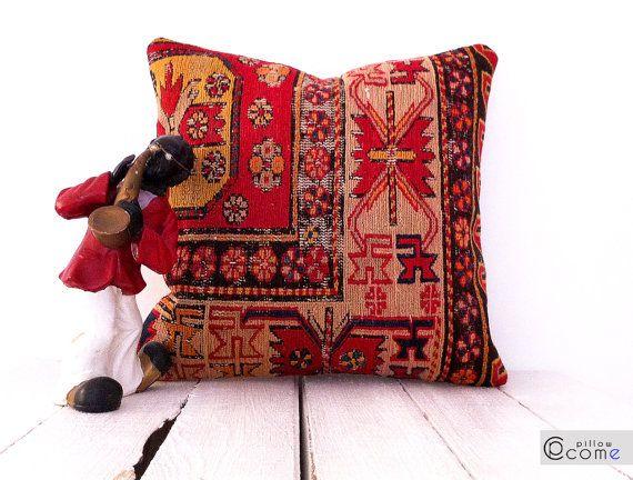 Silk Sumac Rustic Cushion Naturel Colors Decorative by pillowcome