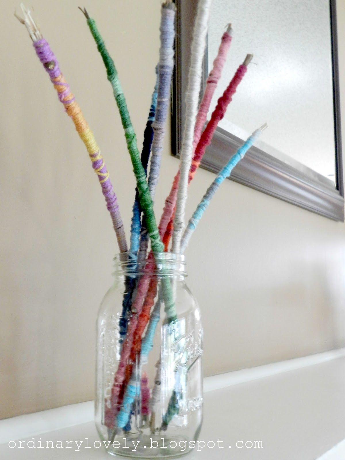 Yarn Wrapped Sticks