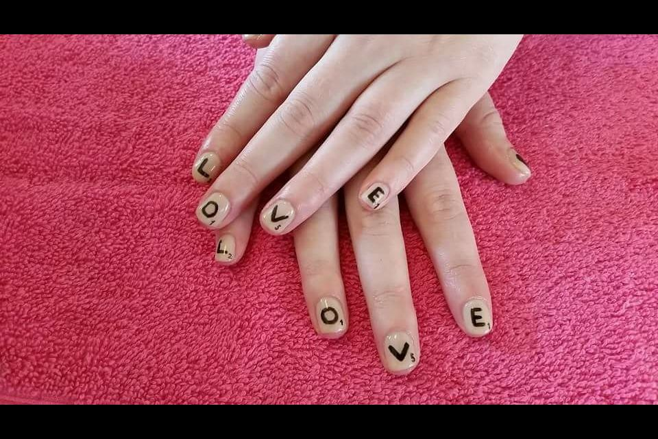 LOVE scrabble nails  by a Fingers and toes for my Paris holiday last year!