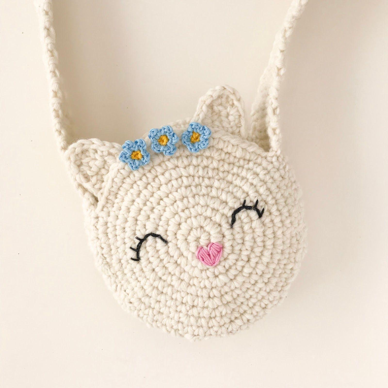 Eine Häkelanleitung für eine zuckersüße Katzentasche