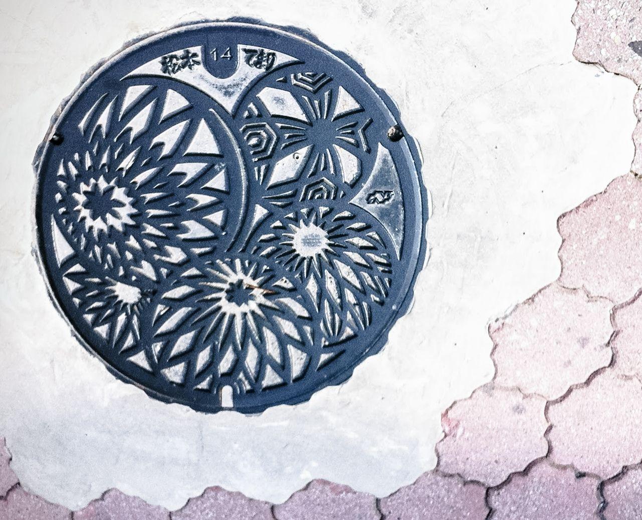 ☆ Temari Ball / 手鞠 : Manhole Cover ,Matsumoto, Nagano, Japan