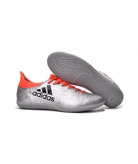 best website a4922 cbb3d Adidas X 16.3 Indoor Fodboldstøvler Sølv Orange Sort