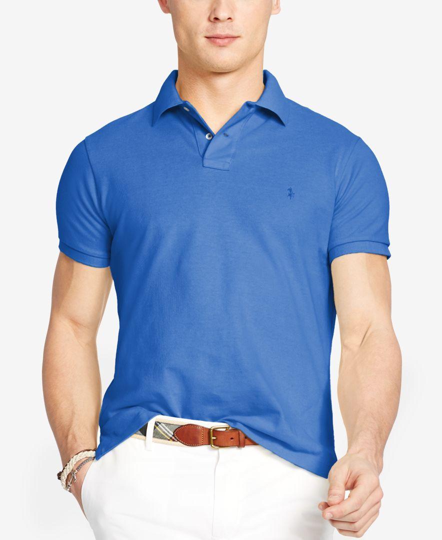 Polo Ralph Lauren Custom-Fit Cotton Mesh Polo Shirt - Polos - Men - Macy's