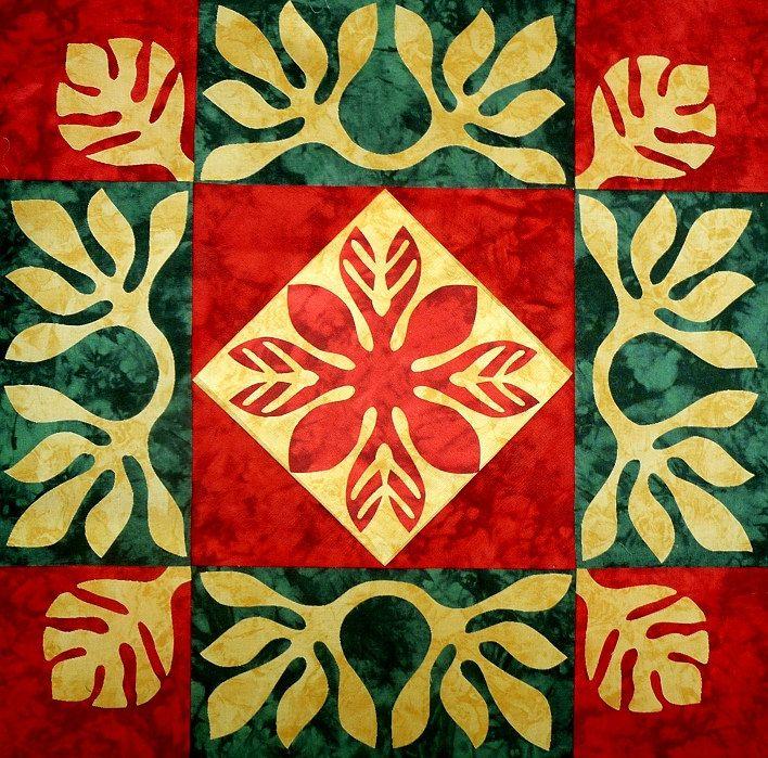 """""""Pohihihi"""" - hawaiianischer Quilt, Muster von CountryRosePattern auf Etsy"""