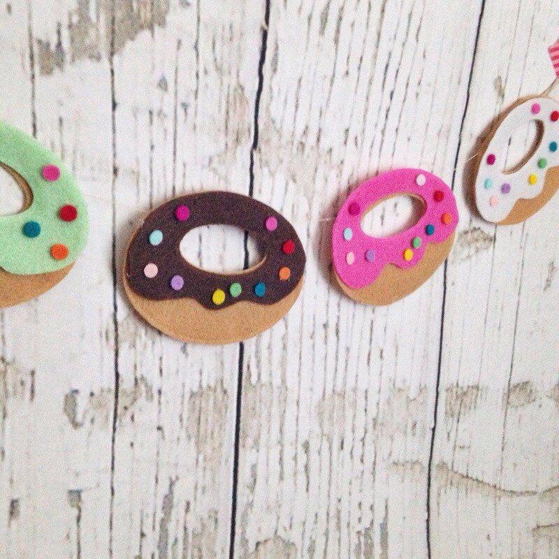 Doughnut // Donut // National Donut Day // Doughnut Garland // Felt Banner // Birthday Party by ShopHeydayDryGoods on Etsy https://www.etsy.com/listing/235163944/doughnut-donut-national-donut-day