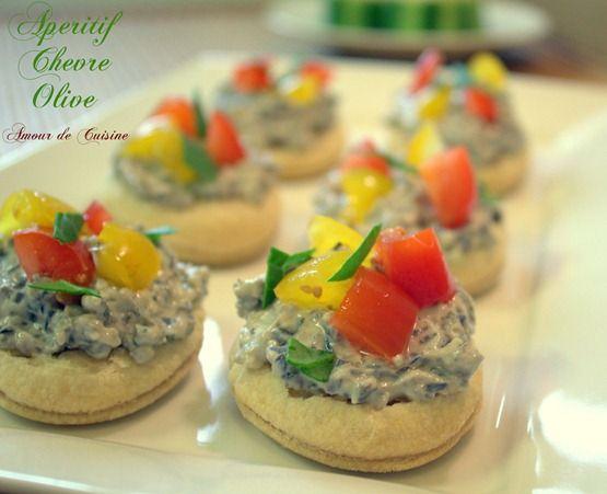 amuse bouche olive et chevre ( et idée apero dinatoire) - Amour de cuisine